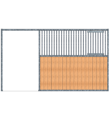 Modular Panel Stall Front - Feed Door